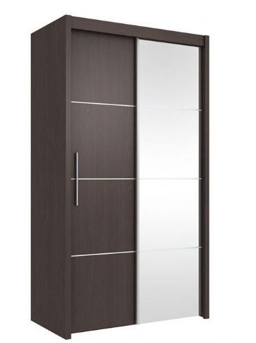 Carlo Sliding Door Wardrobe 121cm in Wenge - 2414